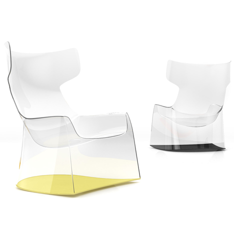 Light Rock by Philippe Starck – Top image:Vitra Rise table