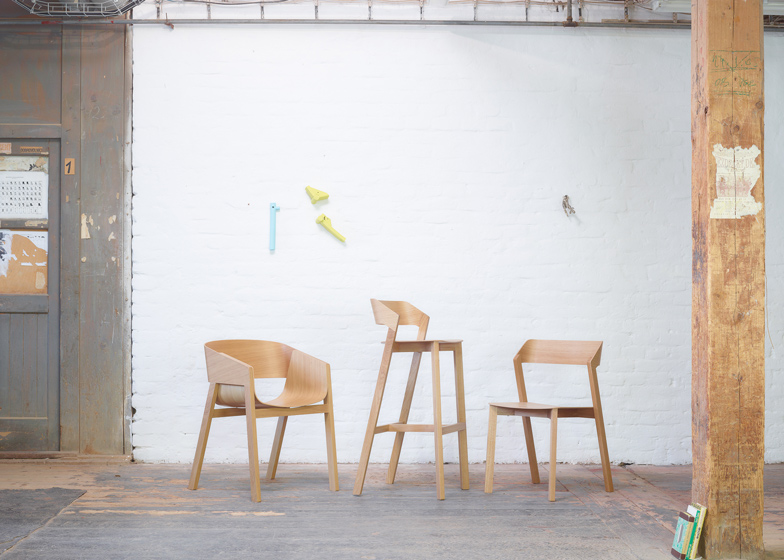 Merano armchair, barstool and chair
