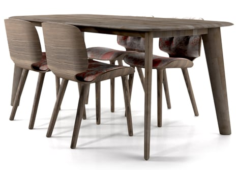 Tapered-Table-by-Moooi-Works-Nut-Dining-Chairs-by-Marcel-Wanders-for-Moooi