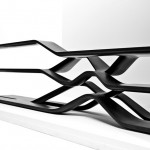 Cantilevered granite forms developed by Zaha Hadid for Citco shelving