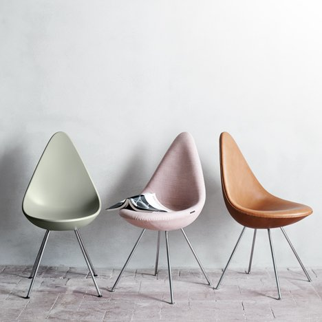 Arne Jacobsen's Drop chair reintroduced by Repu