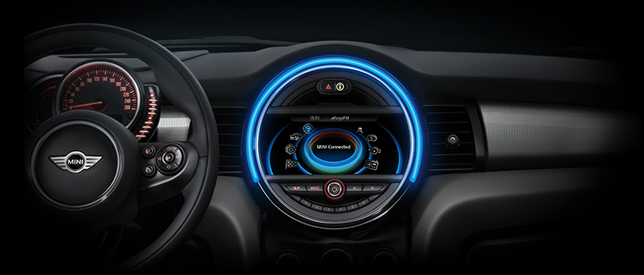 The MINI Connected console