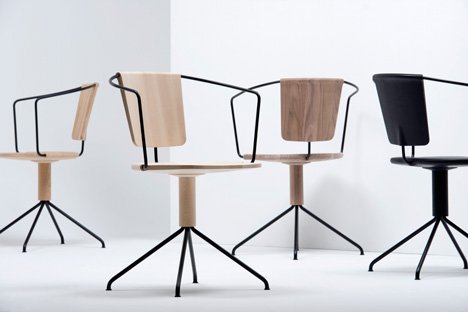 Uncino carved wood chairs by Ronan and Erwan Bouroullec for Mattiazzi Milan 2014