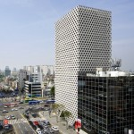 Archium's Urban Hive tower has a perforated facade modelled on honeycomb