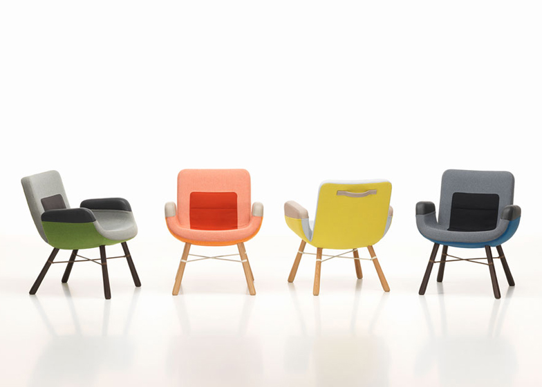 Pleasing Vitra Launches A Lounge Chair By Hella Jongerius In Milan Inzonedesignstudio Interior Chair Design Inzonedesignstudiocom