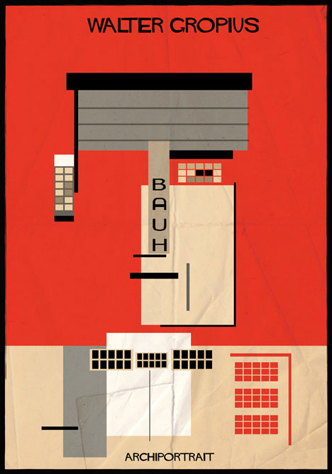 Walter Gropius Archiportrait by Federico Babina