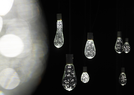 Bubbly beads of light hover at Torafu Architects' Tokyo installation