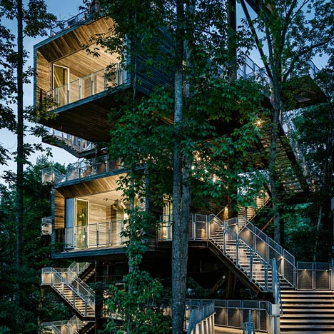 West Virginia treehouse by Mithun hosts the American boy scouts&