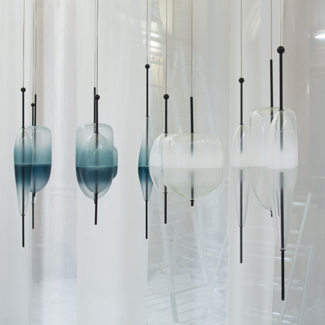 Lamps by Nao Tamura, Zaha Hadid and John Pawson feature in Wonderglass movie
