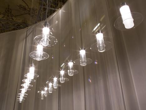 Wonderglass lighting collection at Milan 2014 Sleeve lamps by John Pawson