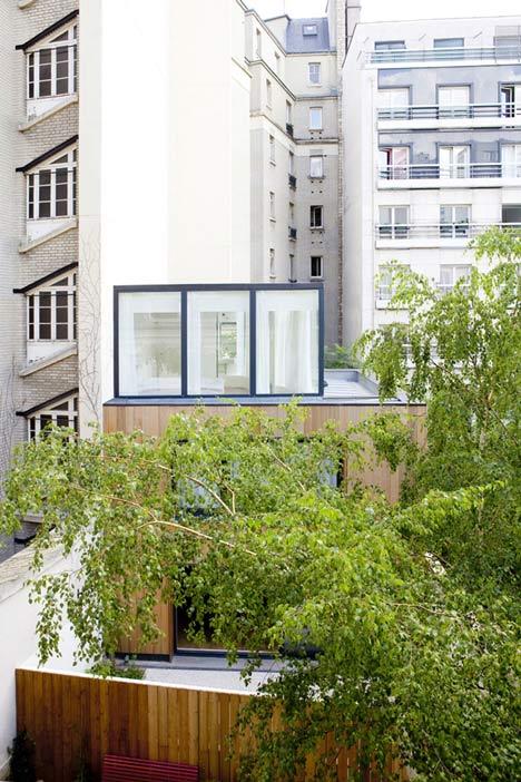 Wooden House in Paris by Noel Dominguez