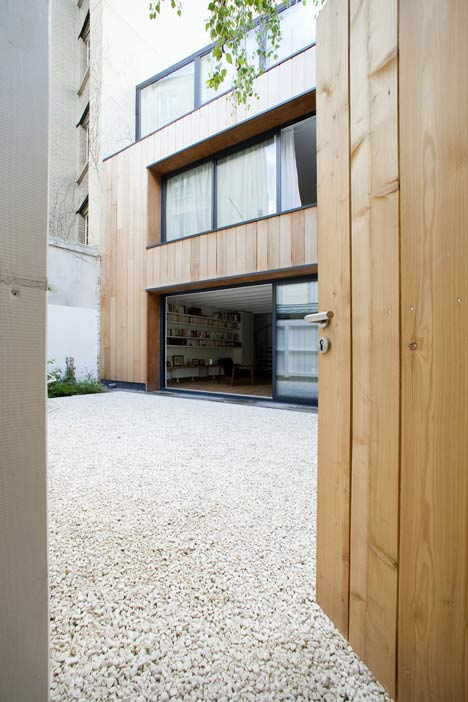 Wooden House in Paris by Noel Dominguez