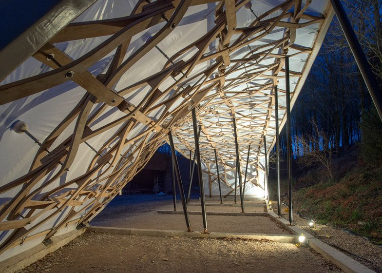 Wooden shelter by London Architectural Association students