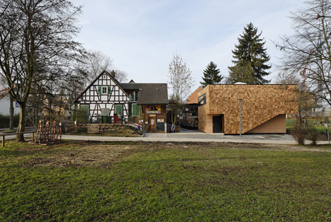 Youth-Club Extension by Bernd Zimmermann Architekten