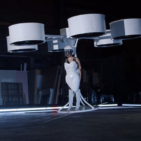 Lady Gaga's flying dress offers vision o