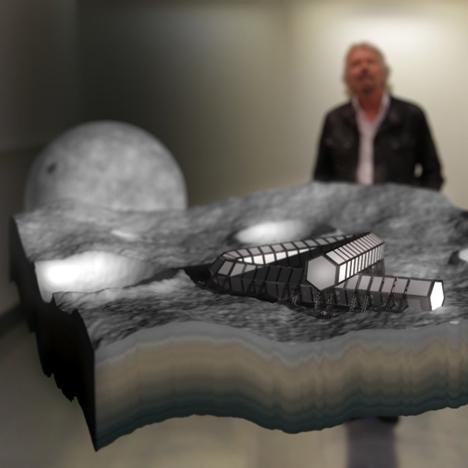 Richard Branson launches plane-shaped skyscraper and moon hotel