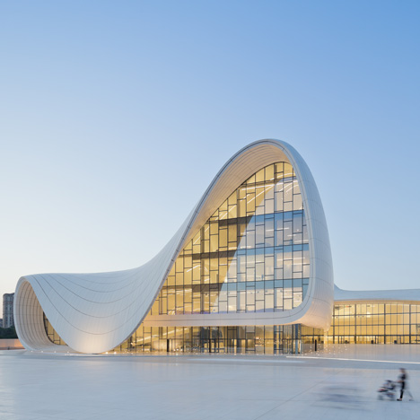 Heydar Aliyev Center, Baku, Azerbaijan. Designed by Zaha Hadid and Patrik Schumacher