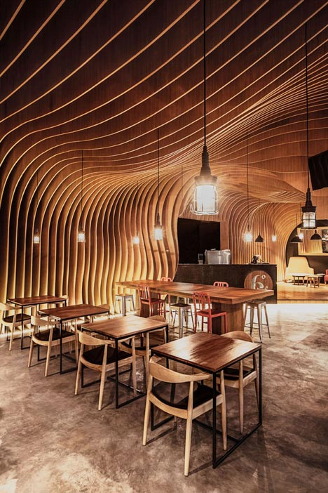6 Degrees Cafe in Indonesia by OOZN Design