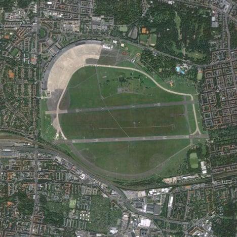 Berlin Tempelhof airport aerial view