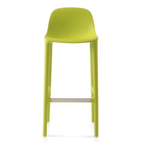 Philippe Starck adds stools made from recycled materials to his Broom collection for Emec