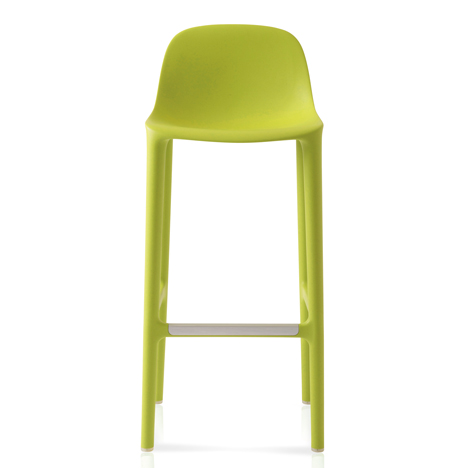 Philippe Starck adds stools made from recycled materials to his Broom collection for Emeco