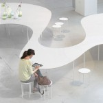 Cloud Table by Studio Maks recharges phones