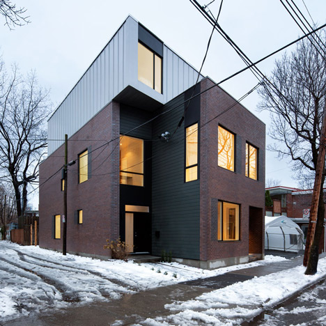Naturehumaine completes a pair of interlocking houses in Montreal