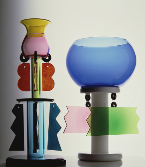 Glass pieces by Ettore Sottsass
