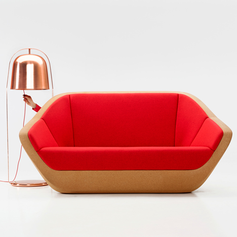 Lucie Koldova designs cork sofa for Per/Use