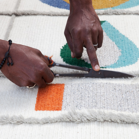 "Doshi Levien's rugs for Nanimarquina capture the ""joy and celebration of the Rabari"""