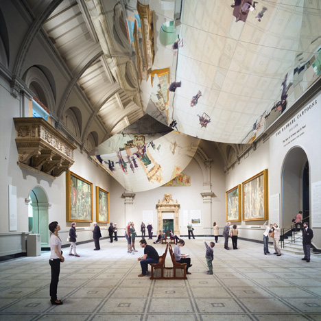 Double Space installation by Barber and Osgerby for the V&A museum