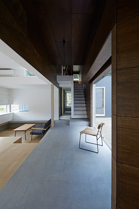 e house in japan by hannat architects embraces light and shadow