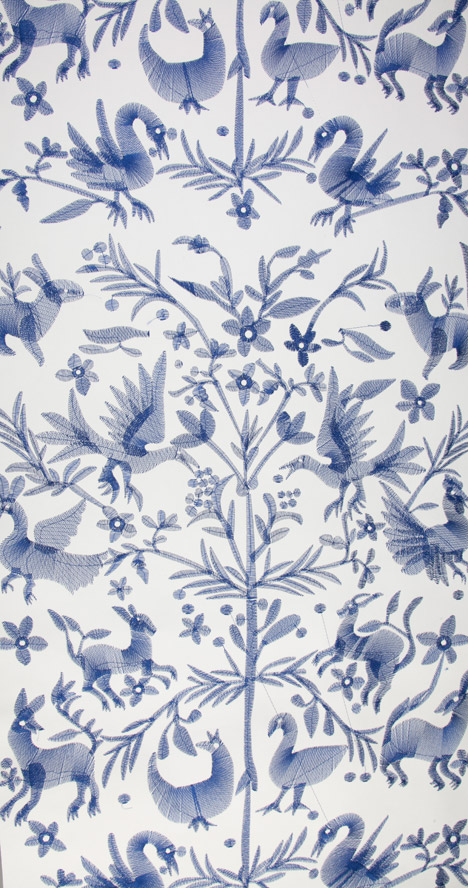 Embroidered wallpaper by CUSTHOM