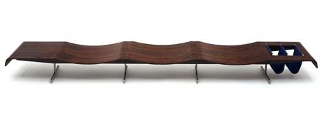 Espasso collection Circa bench by Jorge Zalszupin