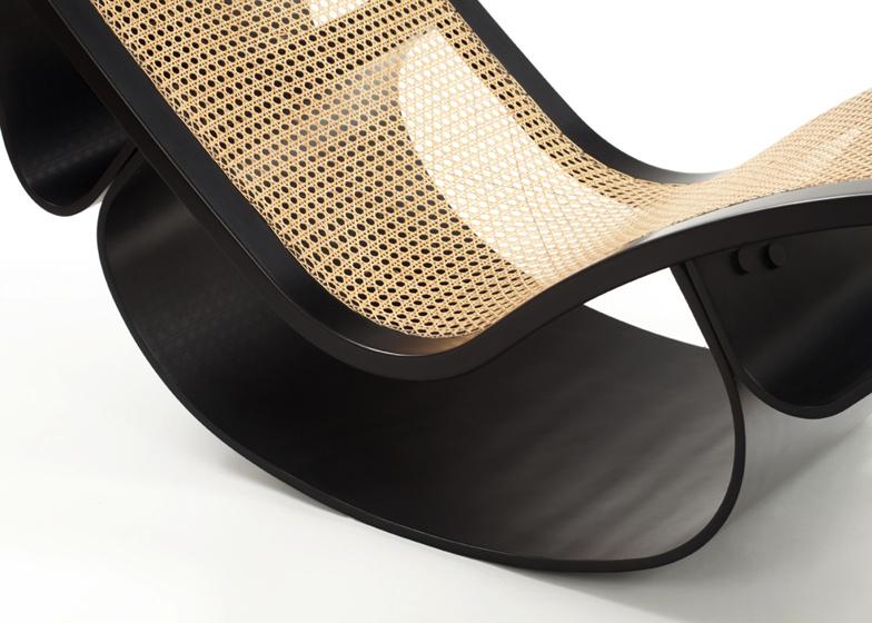 Espasso collection Rio rocking chaise by Oscar Niemeyer