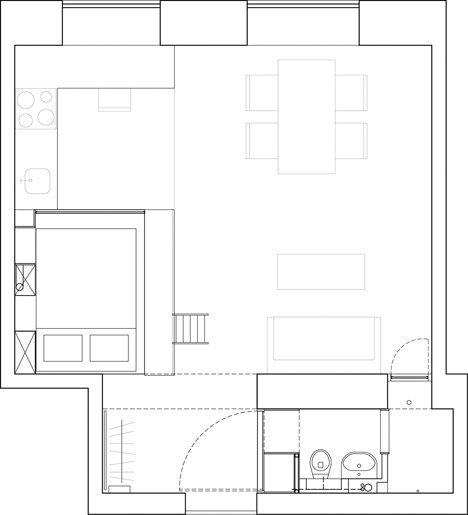 Floor plan of Stockholm apartment by Karin Matz