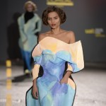 Fiona O'Neill hand-paints dresses for Central Saint Martins fashion show