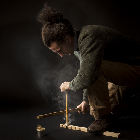 Re-Fire kit by Francesco Faccin creates fire without matches or a lighter