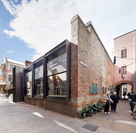 Former Rocks Police Station turned cafe by Welsh + Major