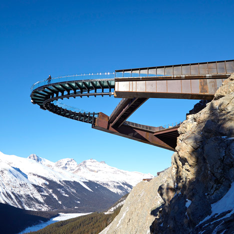 Sturgess Architecture's Glacier Skywalk offers unique views of the Canadian Rockies