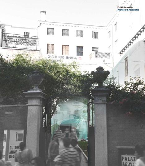Glastecture Venice biennale installation by Kohki Hiranuma