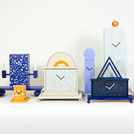 Omkompositioner clocks by Jenny Nordberg