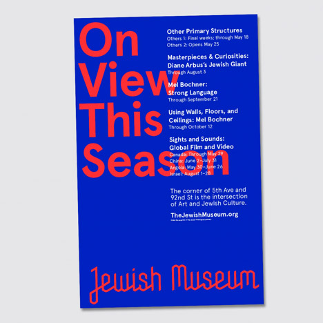 Jewish Museum identity by Sagmeister & Walsh