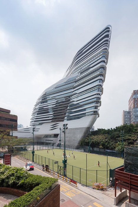 Jockey Club Innovation Tower at HKPU by Zaha Hadid