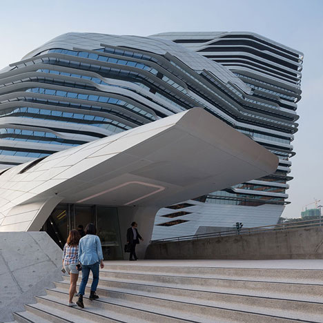 Zaha Hadid's Hong Kong Innovation Tower laid bare in new movie and photogr