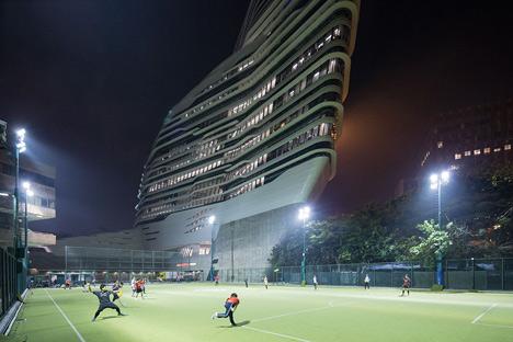 Jockey Club Innovation Tower at HKPU by Zaha Hadid