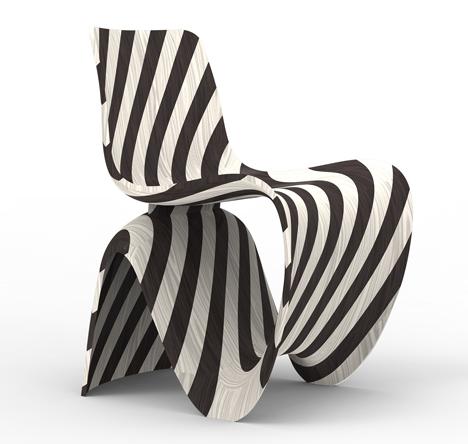 Joris Laarman Lab 3D printed diagonal chair