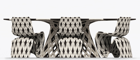 Joris Laarman Lab 3D printed diamond chair