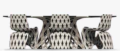 Joris Laarman Lab 3D printed diamond chair