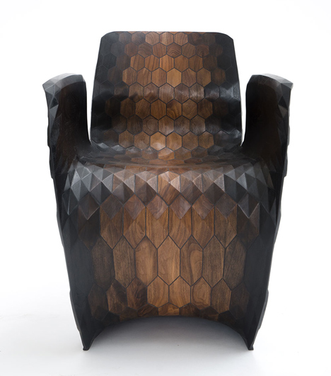 Joris Laarman Lab 3D printed hexagon chair